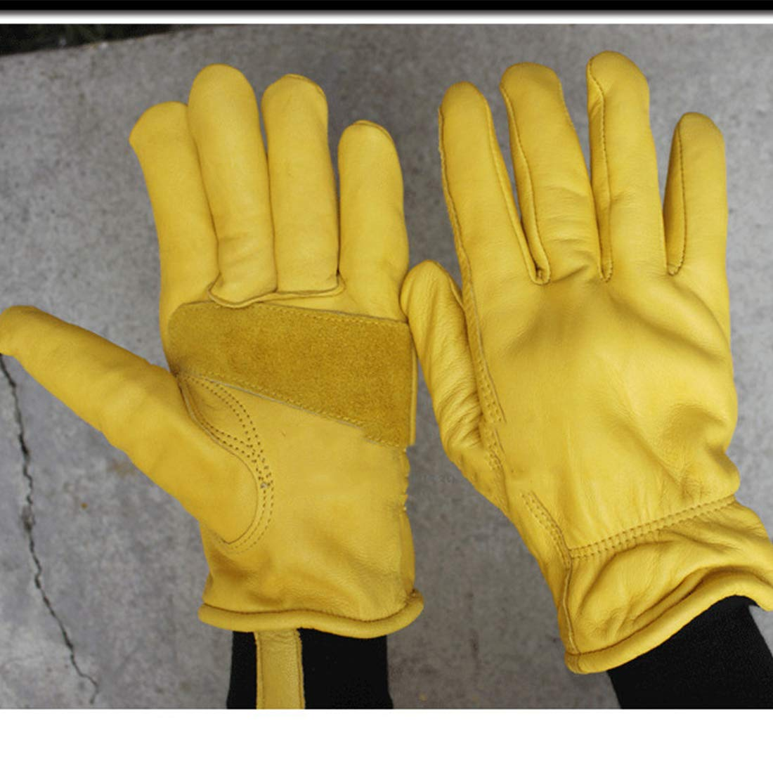 Winter Gloves Genuine Cowhide Leather Snow Working Glove Lined with Thick and Warm Gift