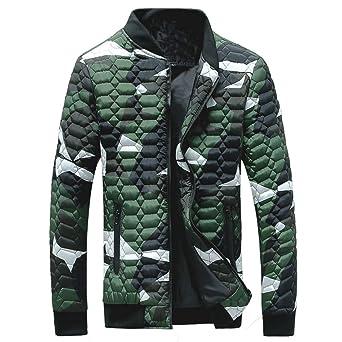LILICAT Camisa de Camuflaje de Otoño e Invierno Para Hombre Cuello de Soporte con Cremallera Espesar