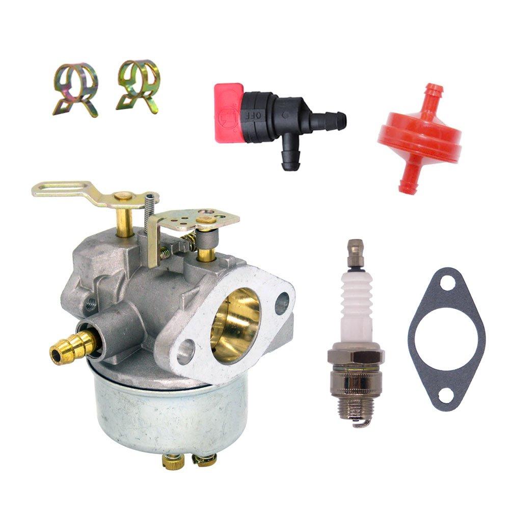 Amazon.com: NIMTEK Carburetor with Fuel Shut Off Valve Spark Plug Fuel  Filter for John Deere Snowblowers TRS22 TRS26 TRS27 TRS32 Carb: Automotive