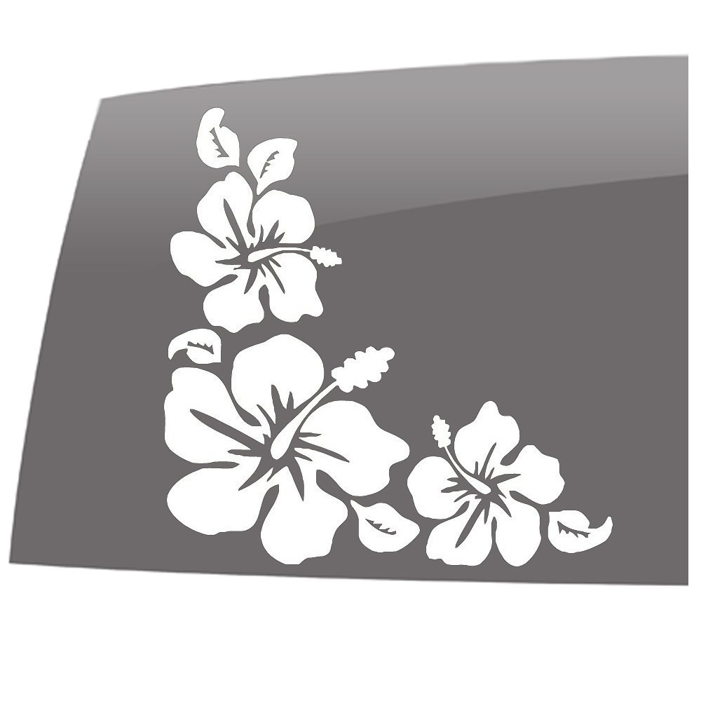 Amazoncom Window Swag Hibiscus Flower Corner Sticker Solid