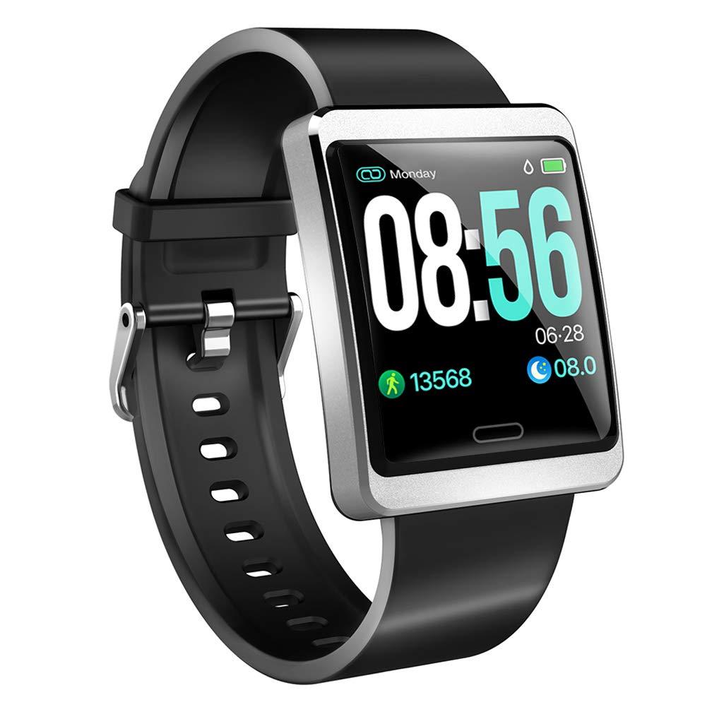 ZKCREATION Reloj Inteligente Pulsera Actividad con Pulsómetro Podómetro Calorie Monitoreo del sueño IP67 Impermeable Smartwatch