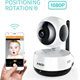 FREDI Wireless 1080P Ip Baby Camera WiFi Home Security Surveillance Camera for Baby/Elder/Pet/Nanny Monitor, Pan/Tilt, Two-Way Audio & Night Vision