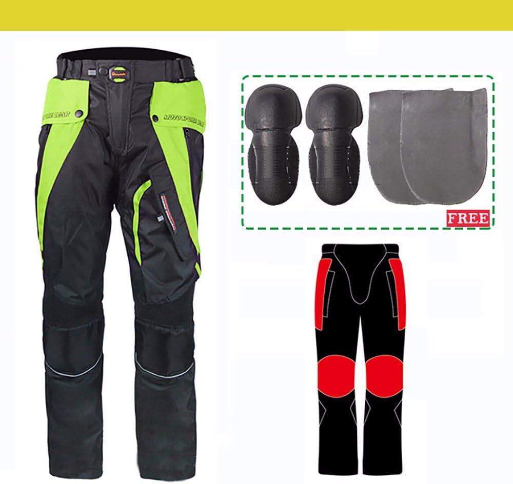 Pantalones de motocicleta unisex con protecci/ón impermeable y forro extra/íble Lvnrids