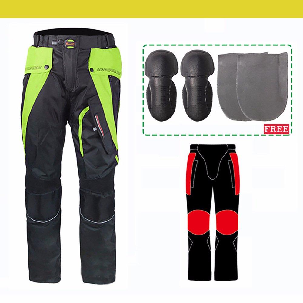 LKN Pantalon homme et femme de protection pour moto Imperm/éable et coupe-vent Convient pour 4 saisons Vert