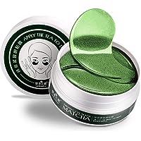 60PCS / Box Women Green Tea Collagen Eye Pads, Moisturizing Face Care Mask for Anti Aging Eye Bags Dark Circles Fine Lines Twinkles Lifting Tightening