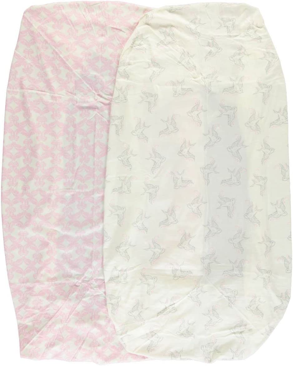 Touched by Nature 2 Piece Organic Fitted Crib Sheets Pink One Size