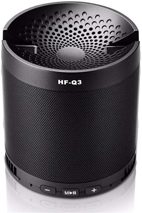 FWRSR Altavoz Bluetooth Portátil Altavoces Inalámbrico Caja De Sonido Soporte para Radio FM Disco TF U Reproducción De Música con Micrófono Soporte para Teléfono Soporte,Black: Amazon.es: Deportes y aire libre