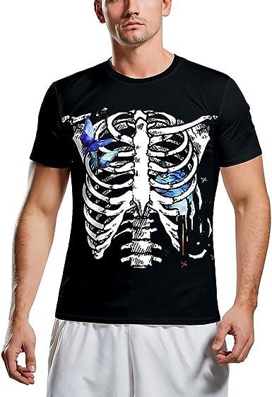 FZTX-ZJJ Camiseta con Estampado de Terror de Calavera 3D para Hombre Camiseta de Pareja con Fondo de Halloween Hombres niños Casual Fitness Sport Hiking Tees: Amazon.es: Ropa y accesorios