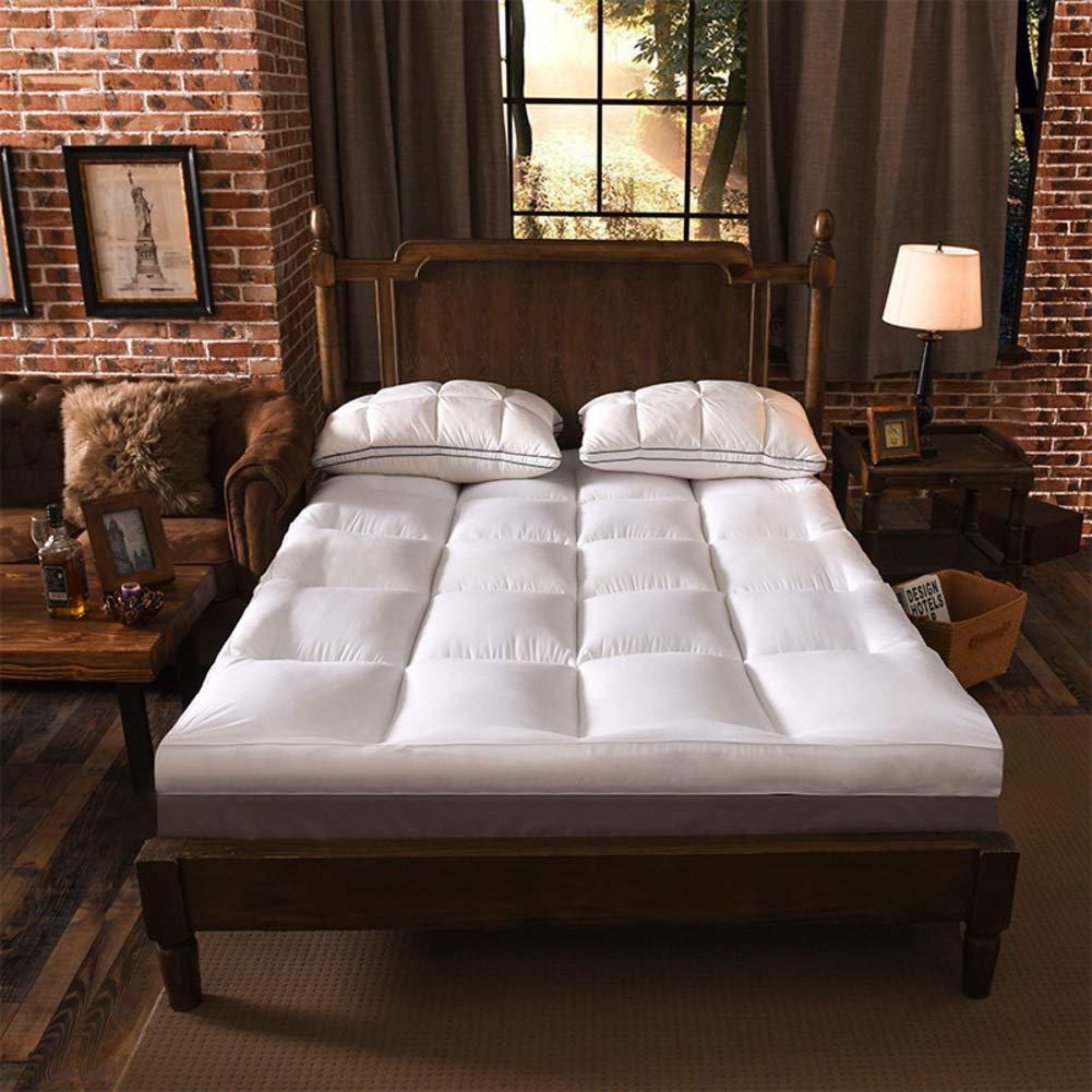White 100x200cm(39x79inch) Warm Tatami futon Mattress Anchor Straps, Foldable roll up Mattress pad Topper Premium Simmons Available-Light tan 150x200cm(59x79inch)