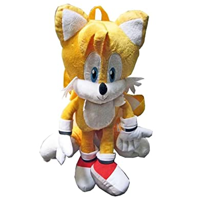 Sonic the Hedgehog Tails Plush Backpack For Kids: Toys & Games