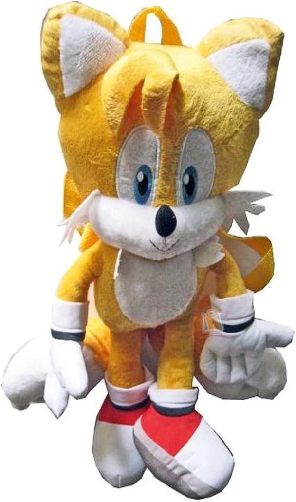 Amazon Com Sonic The Hedgehog Tails Plush Backpack For Kids Toys Games