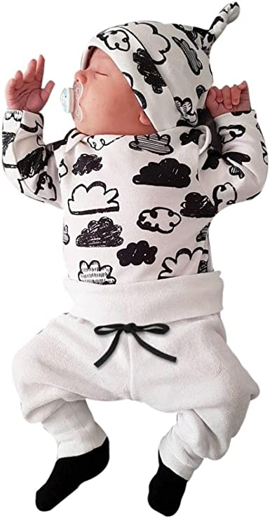 haut de gamme authentique techniques modernes grand choix de 2019 IMJONO Garçon Ensemble, Nouveau Bébé Fille Garçon Nuage Impression et  Pantalons Ensemble de vêtements