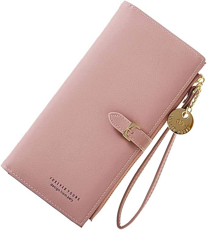 Leather Wallet Women Purse Clutch Bag Ladies Long Handbag Phone Card Holder Zip