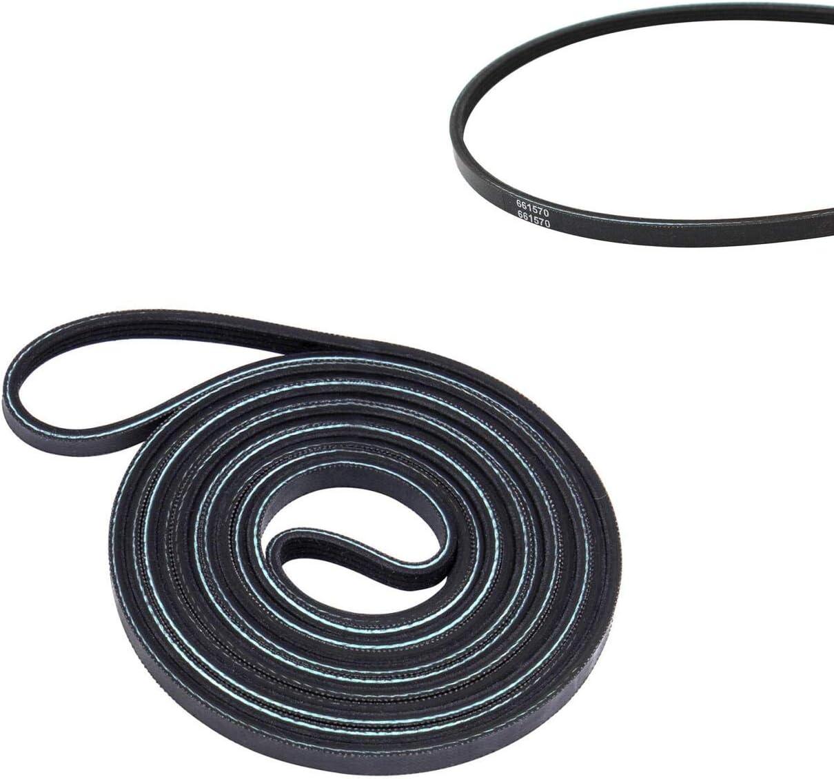 "2 Pack 93.5/"" Length, 1//4/"" Wide, 5 Ribs New 661570V Dryer Drum Belt"