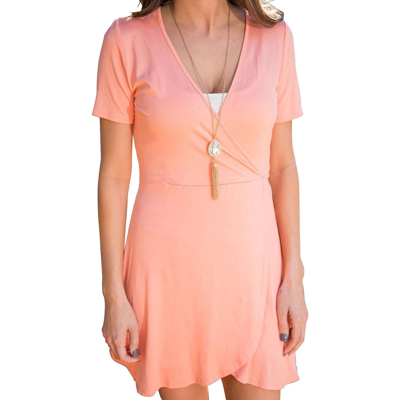 YOGLY Damen Kleider Strand Sexy Dress Summer Top Sommer Strandkleid Hipster Kleider Kurz Elegant