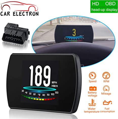 Car On Board Computer Car Digital Obd Driving Computer Display Heads Up Display Hud For Cars Gps Speedometer Auto