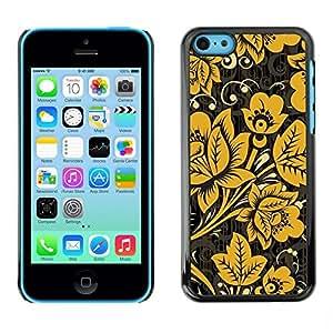 [Neutron-Star] Snap-on Series Teléfono Carcasa Funda Case Caso para iPhone 5C [Patrón Oro Amarillo Blanco]