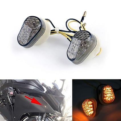 2013 FZ6 2004 Areyourshop Luces LED intermitentes para Ya-ma-ha FZ1 2006 2013 13 R6 03 2013 R1 2002