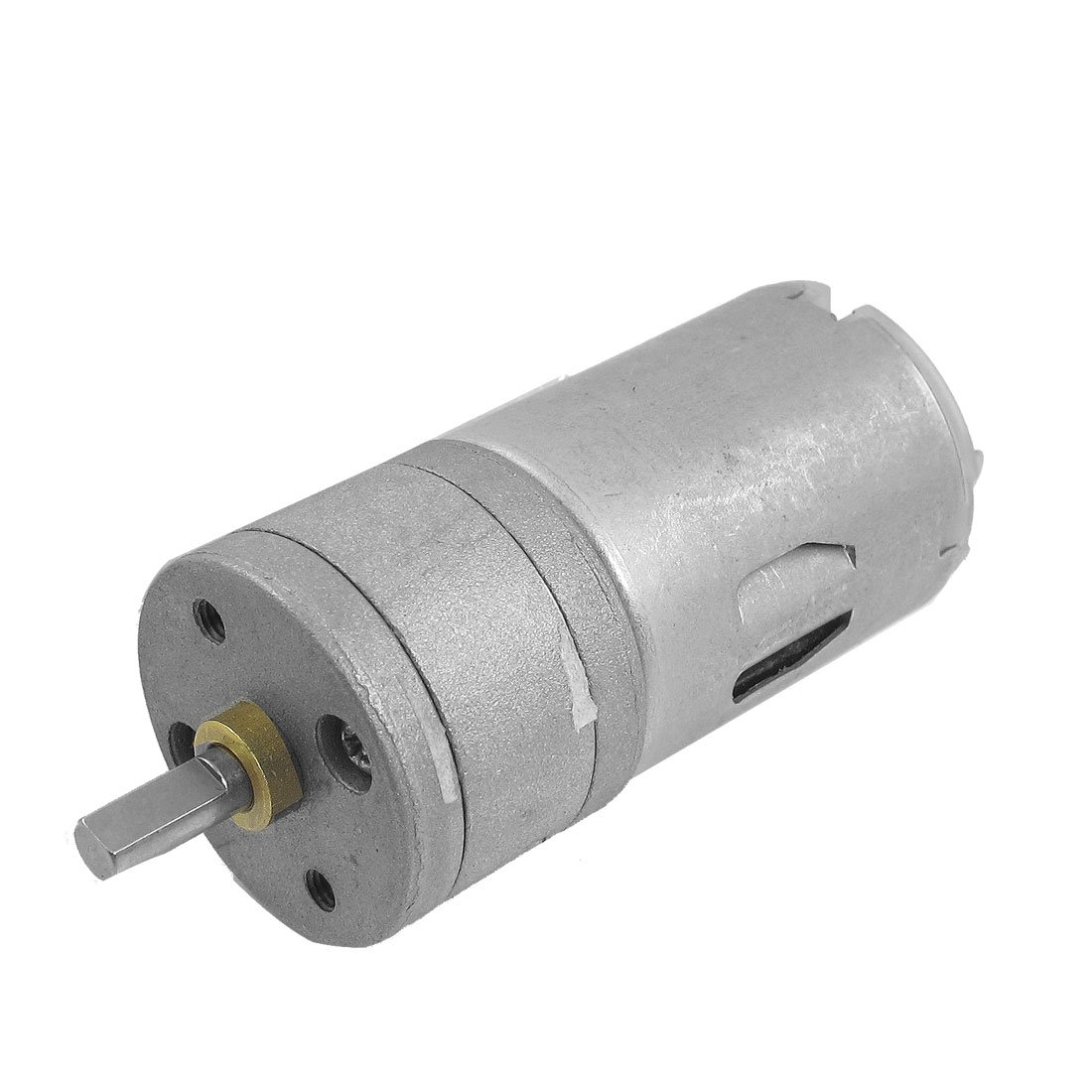 uxcell DC 6V 600RPM 1A 25GA 2 Terminals Electric Geared Motor Silver Tone