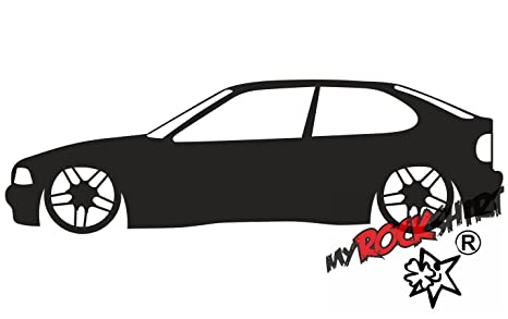 "'2 Pegatinas ""Low Toyota Supra MK3 Turbo (A70) Outline Silhouette"