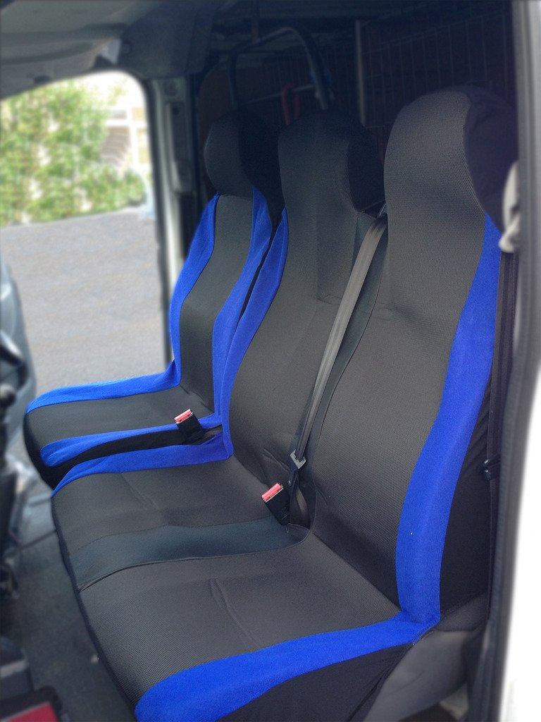 Rhino Automotive© DELUXE RACING BLUE VAN SEAT COVERS 2+1 RW0102 RHINO AUTOMOTIVIE