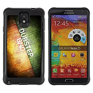 ZeTech Rugged Armor Protection Case Cover - Dubsteb & DNB Music - Samsung Note 3