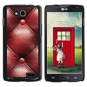 YiPhone /// Prima de resorte delgada de la cubierta del caso de Shell Armor - Leather Brown Maroon Pattern - LG OPTIMUS L90 / D415
