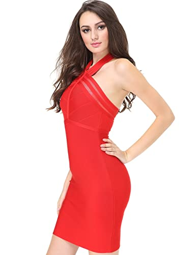 Adyce Bandage-Dress-Red Corset Tight Prime Gown-Luxury Donna Evening Cocktail Party Clubwear Christm...