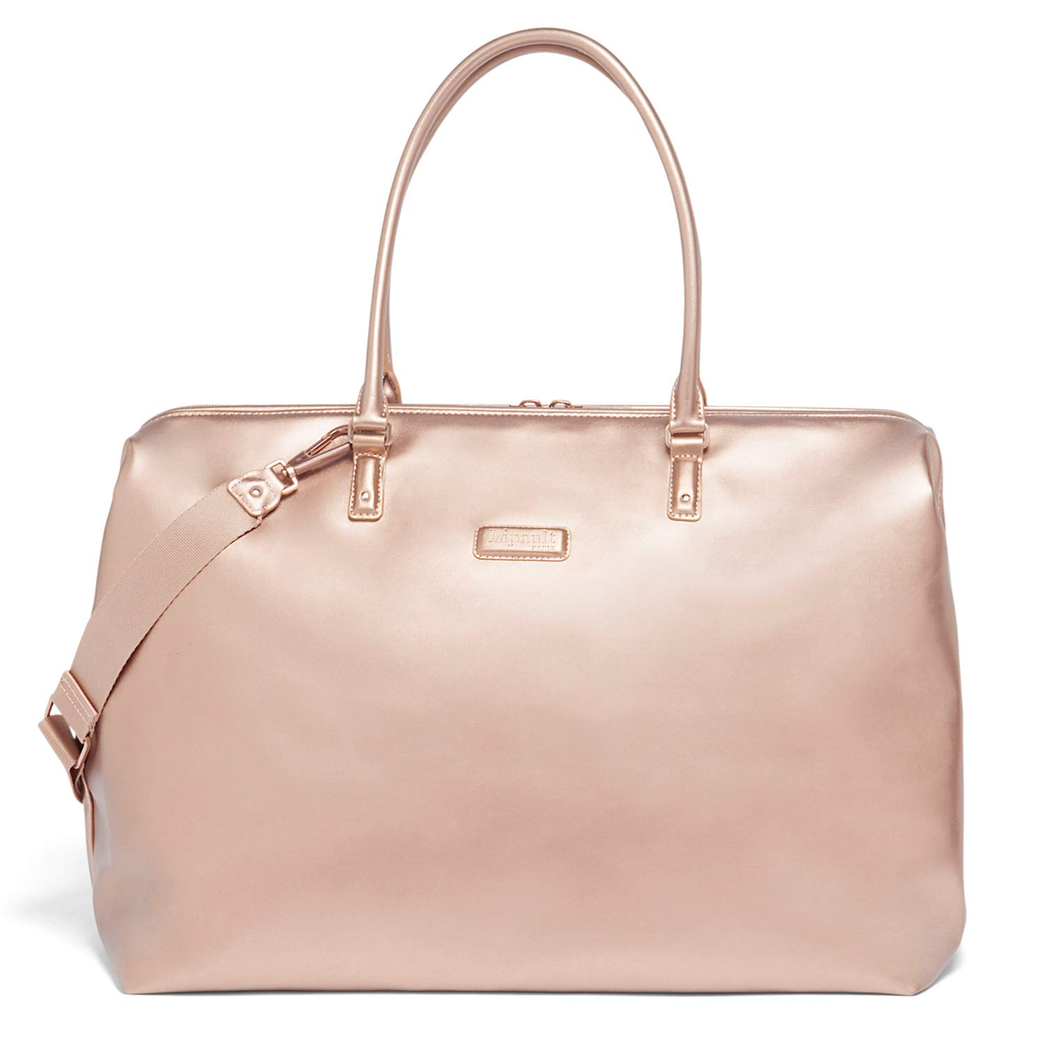 Lipault - Miss Plume Weekend Bag - Medium Top Handle Shoulder Overnight Travel Duffel Luggage for Women - Pink Gold