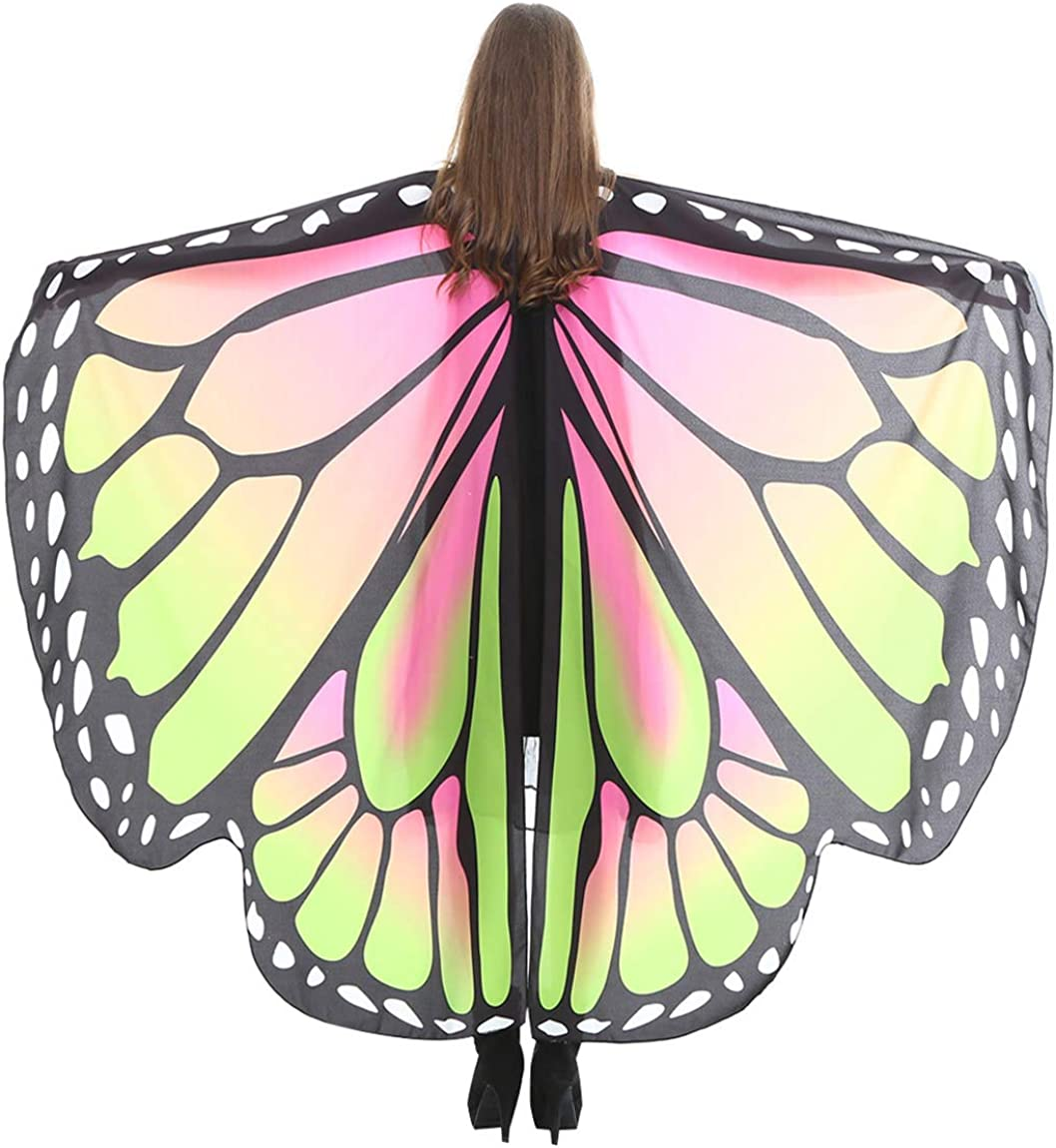 Womens Butterfly Wings Fairy Ladies Nymph Pixie Christmas Costume Accessory EI