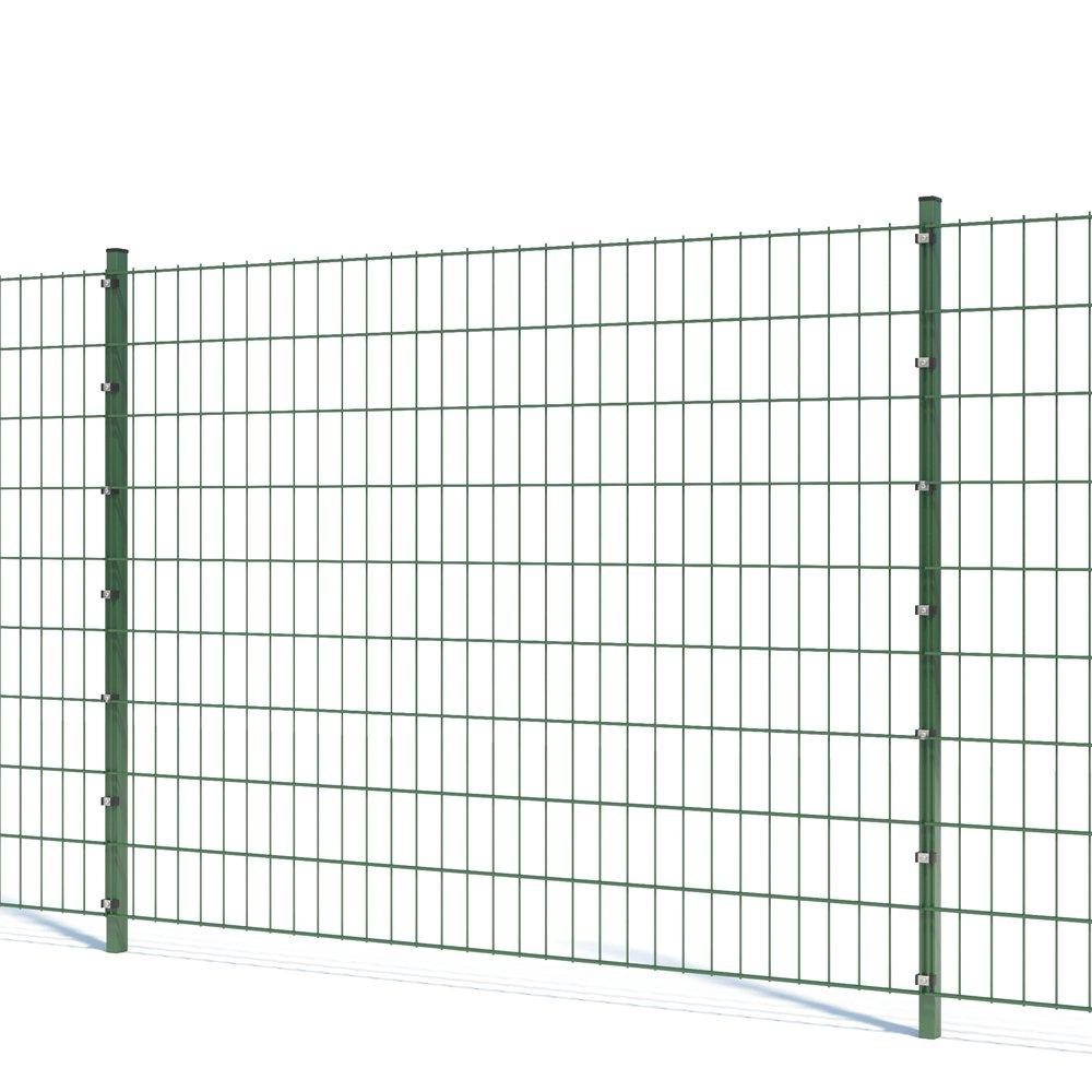 Doppelstabmattenzaun anthrazit//moosgrün Höhe 2030 mm Gartenzaun Gittermattenzaun