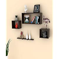 Onlineshoppee Rafuf Floating Wall Shelf with 4 Shelves