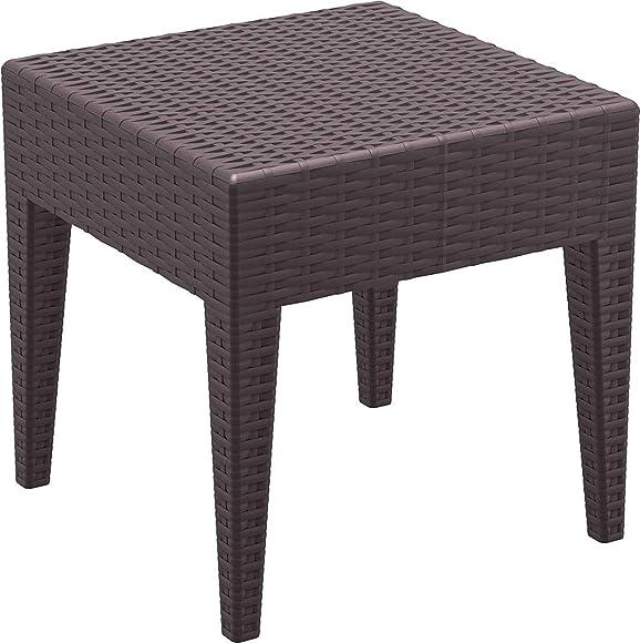 Compamia Miami Square Resin Patio Side Table