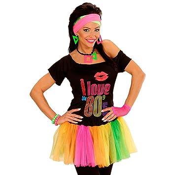1f9ab75e3347 Neon Tutu Damenrock Multicolour Petticoat Multicolor Mini Rock 80'S Fancy  Dress Rüschenrock Damen 80er Jahre Rüschen Minirock Kostüm Klamotten ...