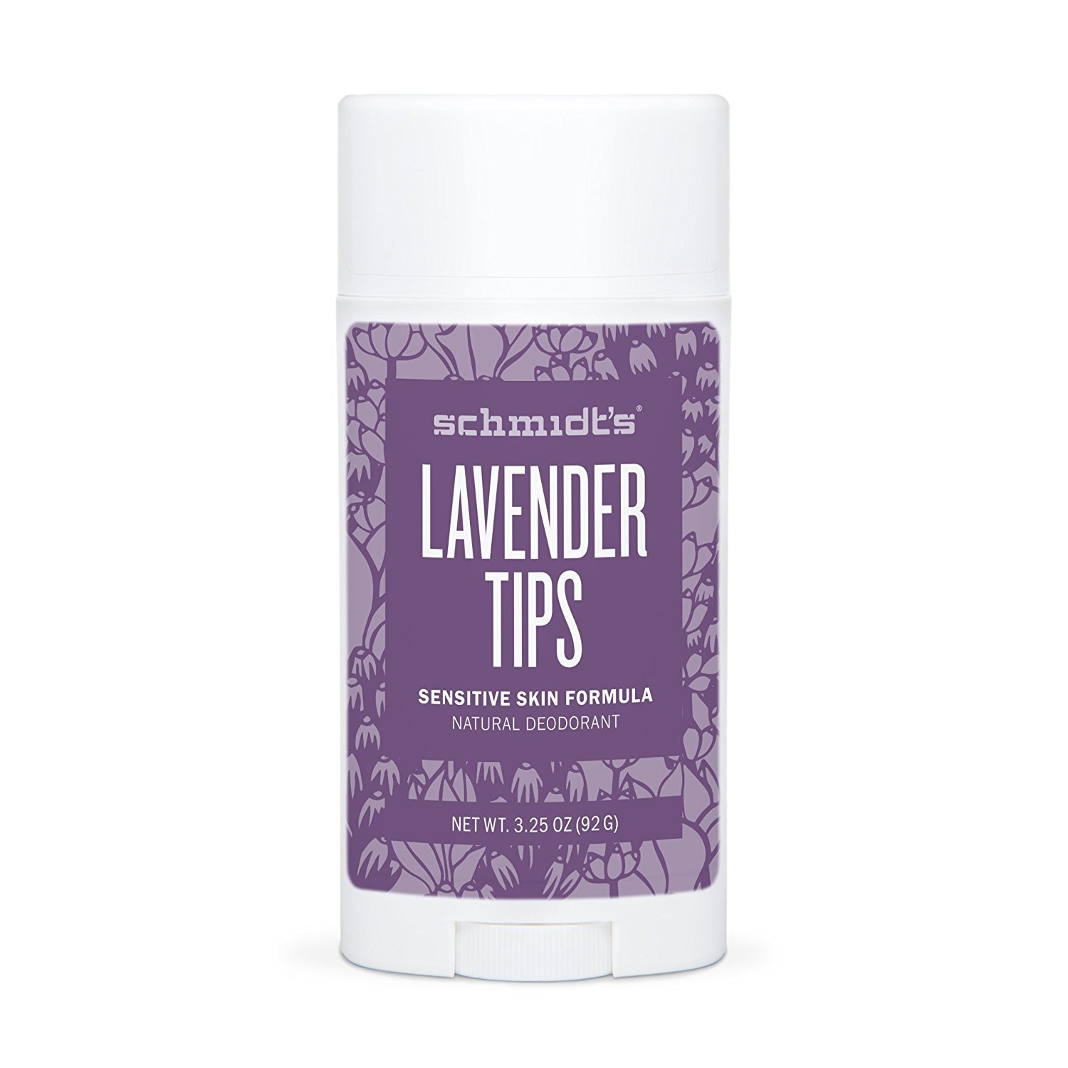 SCHMIDTS - Natural Deodorant Stick for Sensitive Skin Lavender Tips - 3.25 oz. (92 g): Amazon.es: Salud y cuidado personal