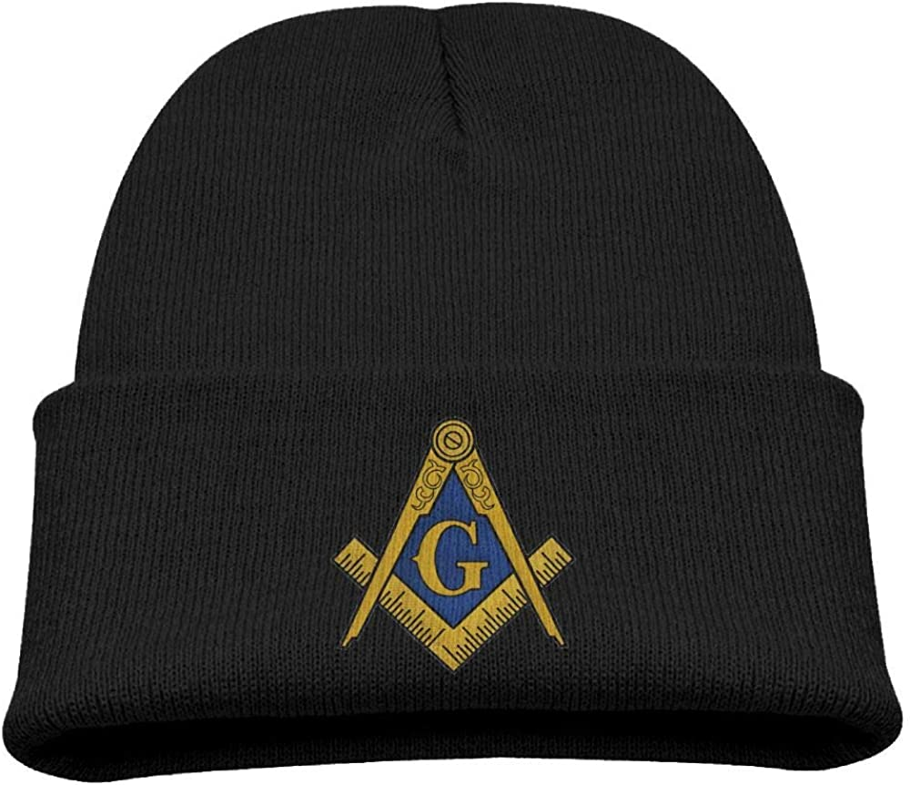 Banana King Freemason Logo Square and Compass Baby Beanie Hat Toddler Winter Warm Knit Woolen Cap for Boys//Girls