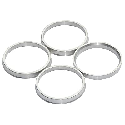 GDSMOTU 4pc Alloy Aluminum 73.1mm OD to 66.1mm ID Hub Centric Rings - Performance Hubrings for 66.1mm Vehicle Hubs with 73.1mm Wheels Center Bore: Automotive