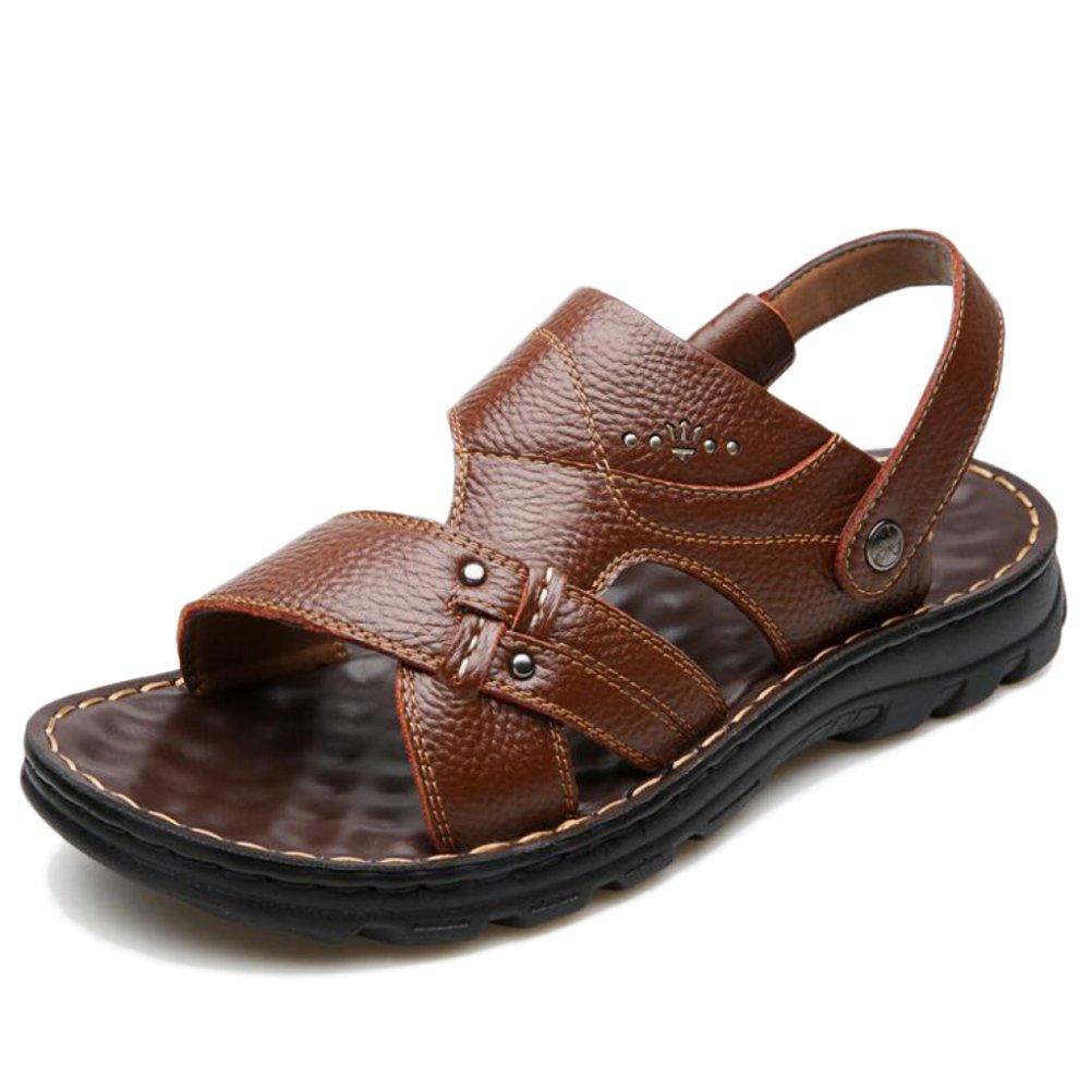 Sandalias para Hombres Zapatillas con Suela Blanda Transpirable Sandalias Antideslizantes Abrasion Summer Open Toe 41 EU|Brown
