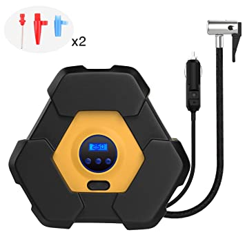 Amazon.com: MoKo Bomba de aire para coche, 12 V, 150 PSI ...