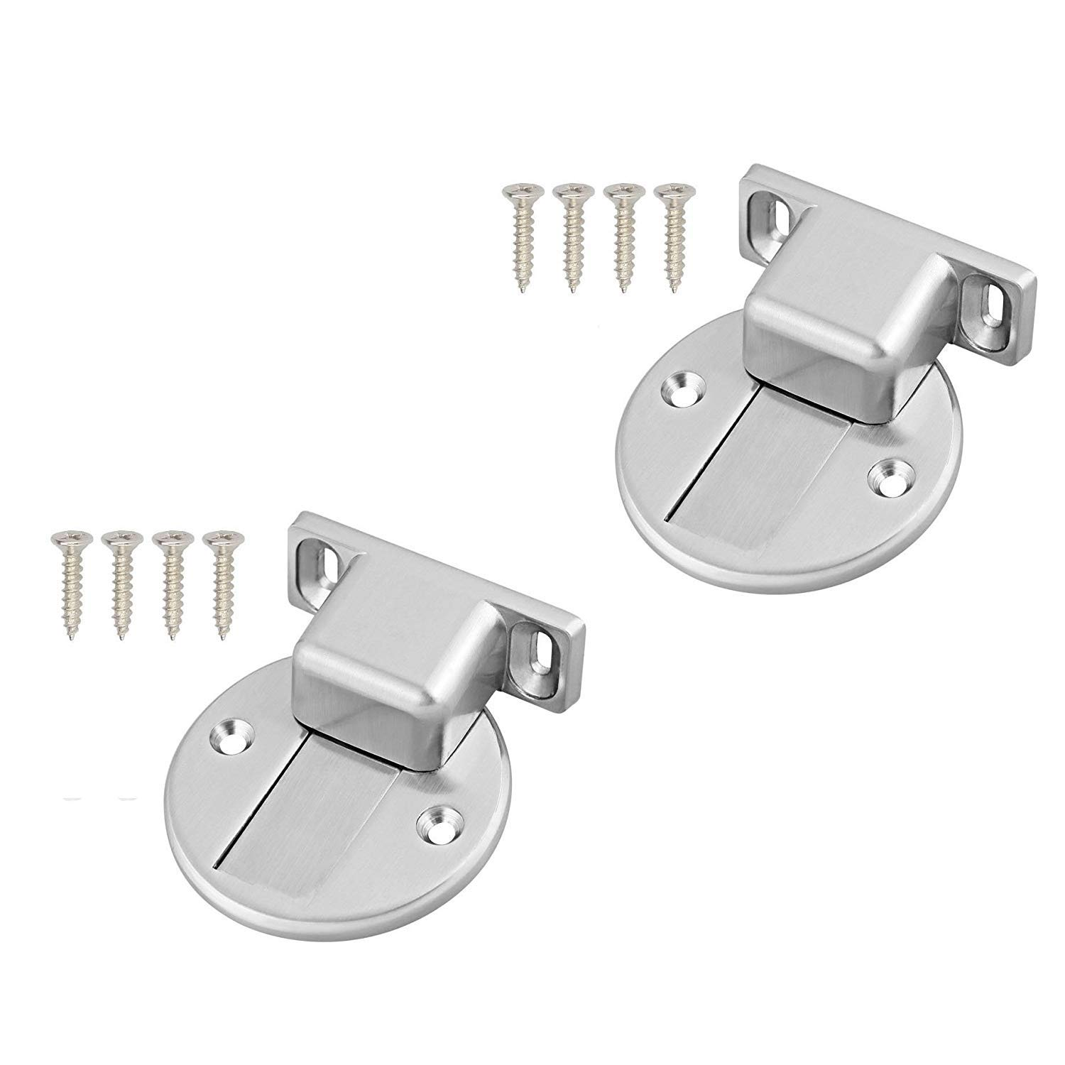 Rannb 2 Pack Stainless Steel Magnetic Door Stopper Holder Heavy Duty Home Stop Catch with Mounting Screws
