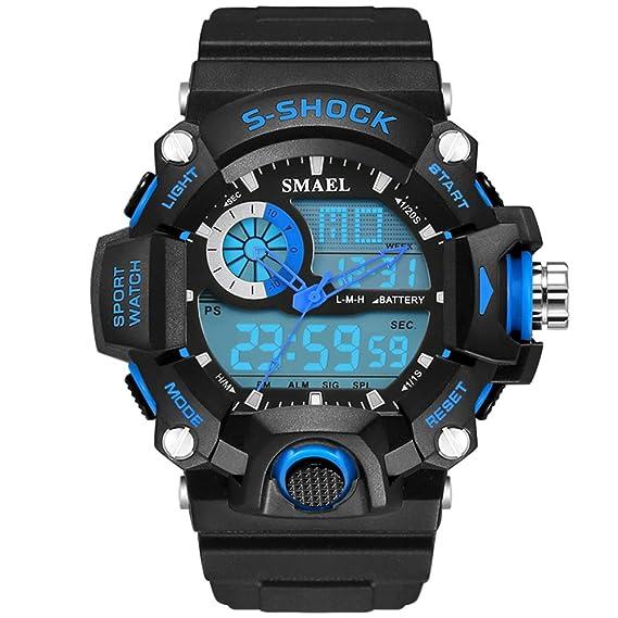 Analógico Digital impermeable mulfunctional estudiante reloj de pulsera para niños: Amazon.es: Relojes