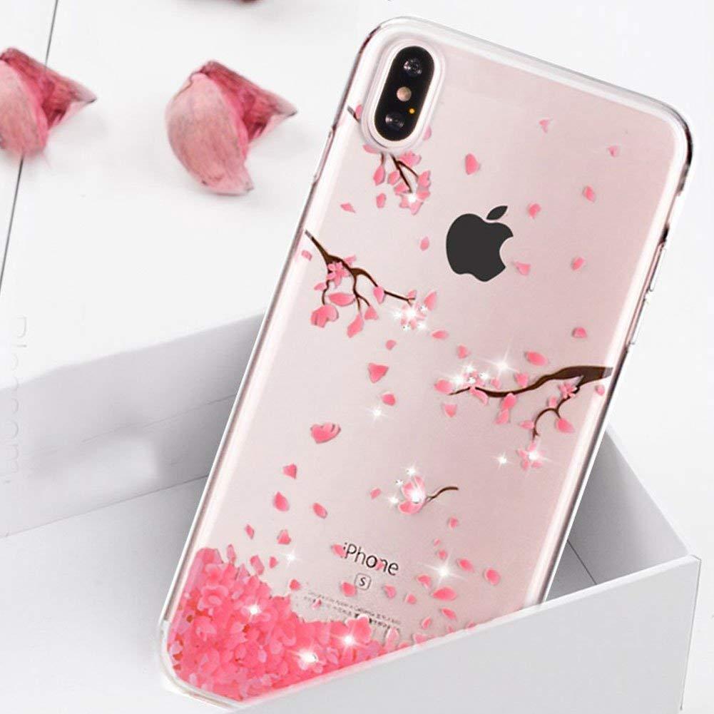 coque iphone xs max silicone fleurs