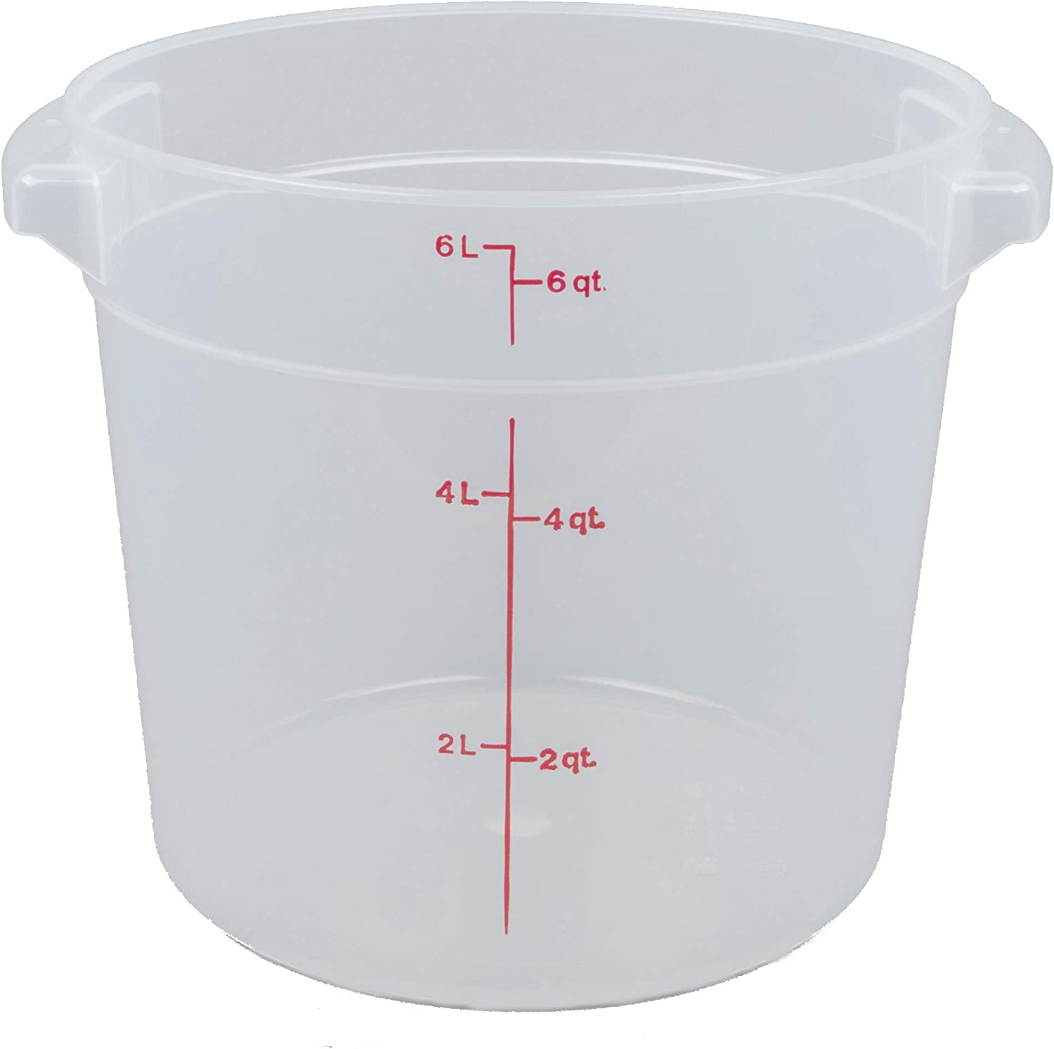 Cambro (RFS6PP190) 6 qt Round Polypropylene Food Storage Container - Camwear