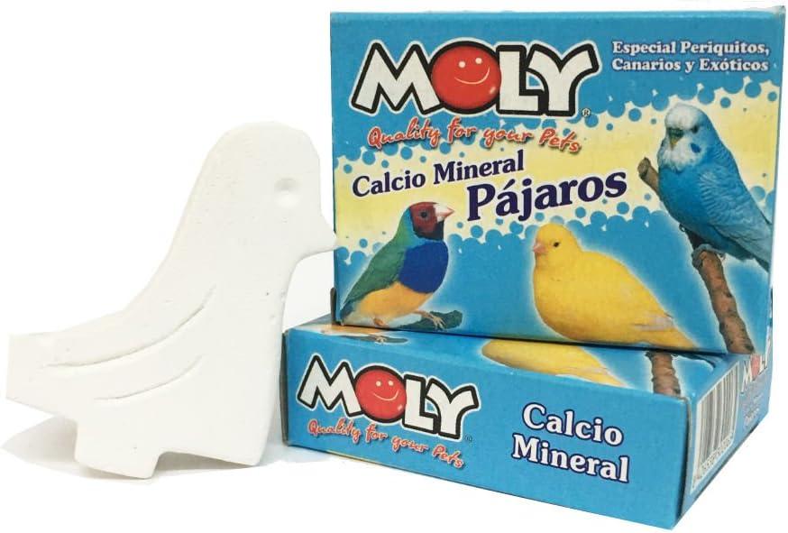 HappyZooMascotas Calcio Mineral para pájaros - Pack de 6 Unidades