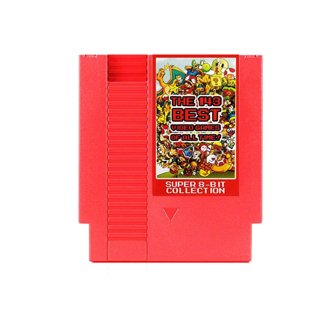 Red 143-in-1 8 Bits 72 Pins Video Game Card with Memory Function for NES Console Contra/Earthbound/Megaman 123456 Game Card - Red Formulaone