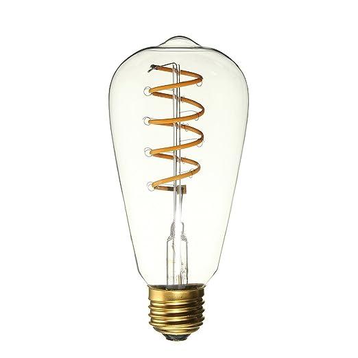ALK ST64 E27 4 W LED envejecido suave filamento Edison – bombillas decorativas luces de nostálgico