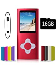 $20 » G.G.Martinsen red Versatile MP3/MP4 Player with a 16GB Micro SD Card, Support Photo Viewer, Mini USB Port 1.8 LCD, Digital MP3 Player, MP4 Player, Video/Media/Music Player