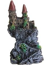 UU19EE Resina Cartoon Castillo Acuarios Decoraciones Castillo Torre Adornos Pecera Acuario Accesorios Decoración