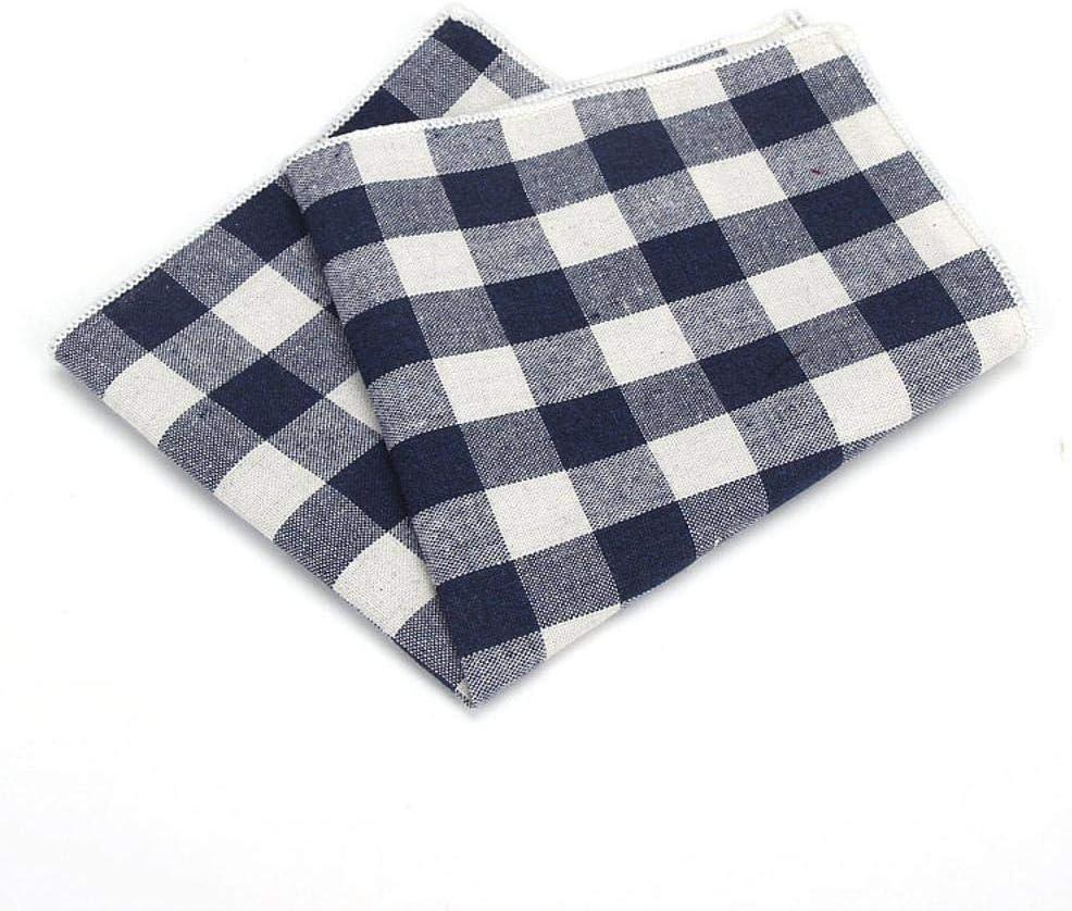 SKYyao Pañuelo de Bolsillo para Hombre Cuadrado de algodón Plaid ...