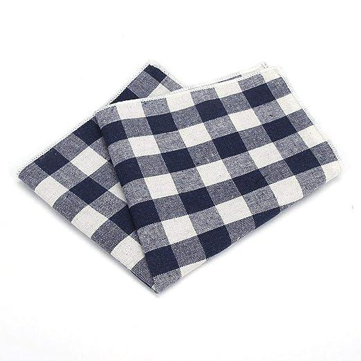 SKYyao Pañuelo de Bolsillo para Hombre Cuadrado de algodón ...